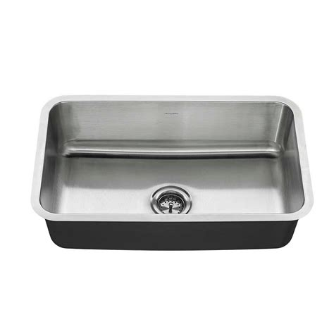American Standard Stainless Steel Kitchen Sink American Standard Undermount Stainless Steel 30 In Single Basin Kitchen Sink Kit 18sb9301800t