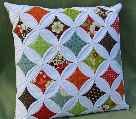 Patchwork Cathedral Window - cathedral windows pillow cushions we
