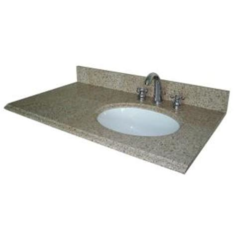 Vanity Top With Offset Right Bowl Pegasus 37 In W Granite Vanity Top With Offset Right Bowl And 8 In Faucet Spread In Beige