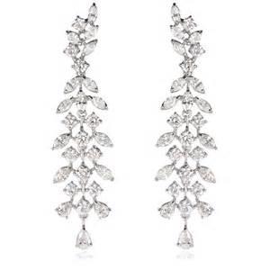 white gold chandelier earrings 8 51ct 18k white gold chandelier earrings