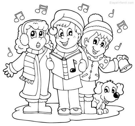 dibujos de navidad para colorear los niños dibujo navide 241 o para colorear de ni 241 os cantando
