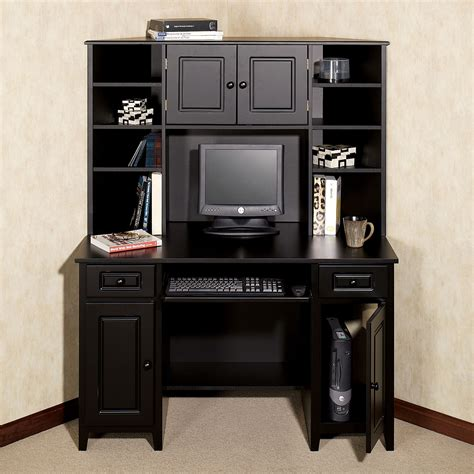 Furniture Corner Computer Desk With Hutch For Workspace Ideas Corner Hutch Desk
