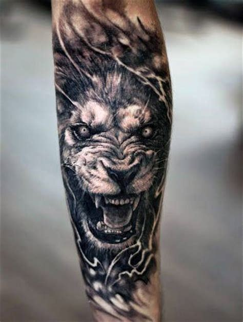 mens lion tattoo designs 40 forearm tattoos for manly ink ideas