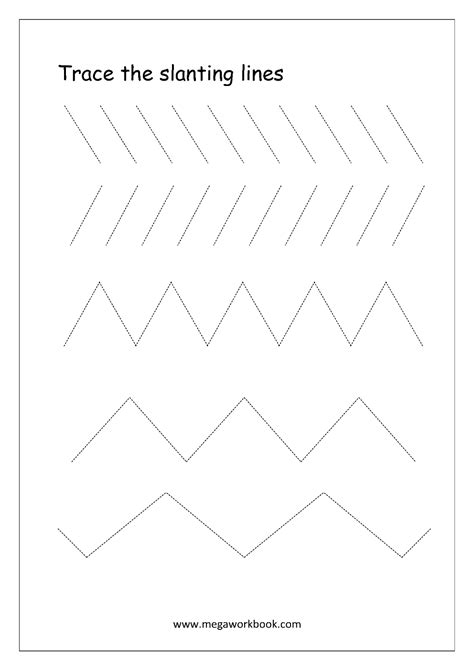 standing line pattern worksheets for kindergarten standing line tracing worksheet the best and most