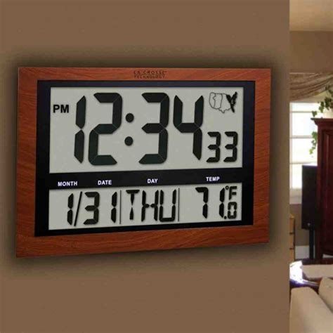 wall clock digital illuminated digital wall clock bing images