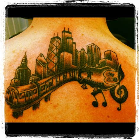 chicago skyline tattoos chicago skyline skylines chicago