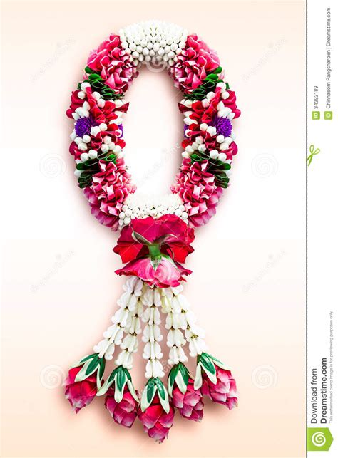 Handmade Garland - garland in ancient thai style royalty free stock images