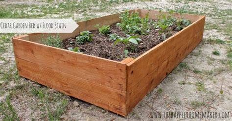 DIY Cedar Raised Garden Bed   The Happier Homemaker