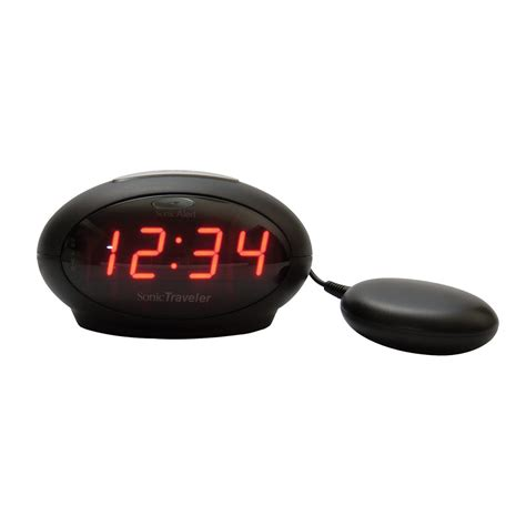 Alarm Clock Bed by Maxiaids Sonic Traveler Alarm Clock With Bed Vibration