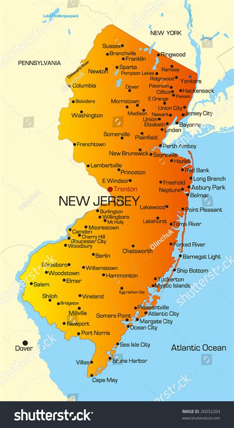 a to z the usa new jersey state flower vector color map of new jersey state usa 26032204