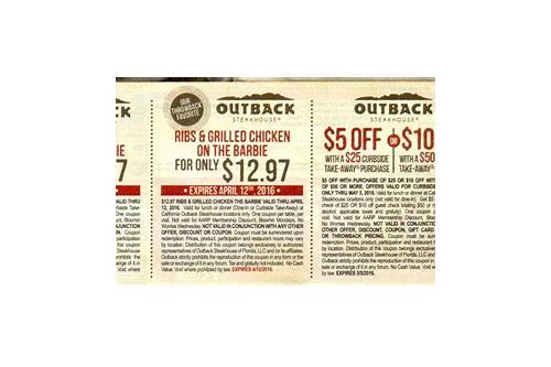outback steakhouse coupons online 2018