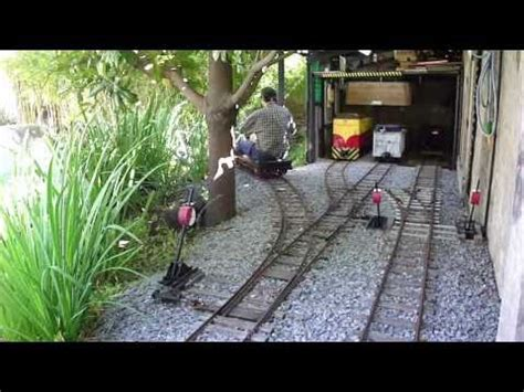 ride on backyard railroad 7 hand power car youtube