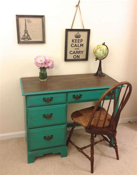 Turquoise Vanity Chair On Hold Reserved Rustic Turquoise Desk And Chair Set