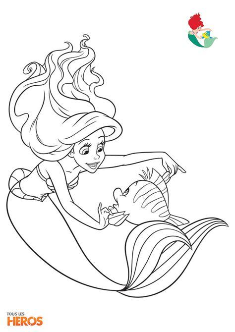 1727 Kid Mermaid Merah coloriez les princesses de disney coloriage sur www tous les heros coloriage