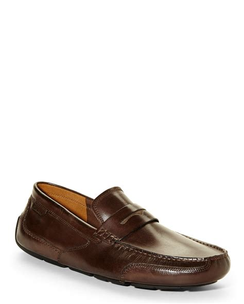 clarks loafers for clarks brown ashmont way loafers in brown for lyst