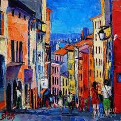 lyon colorful cityscape painting by mona edulesco