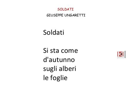 soldati ungaretti testo poesia