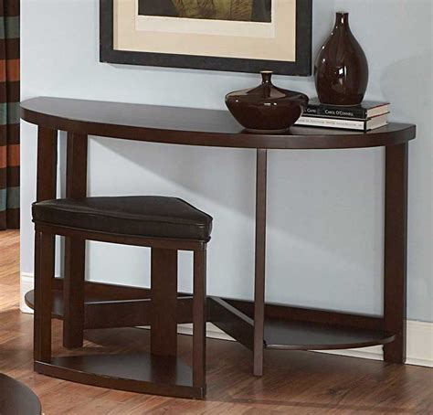 sofa tables with stools homelegance brussel ii console table with stool 3292 05
