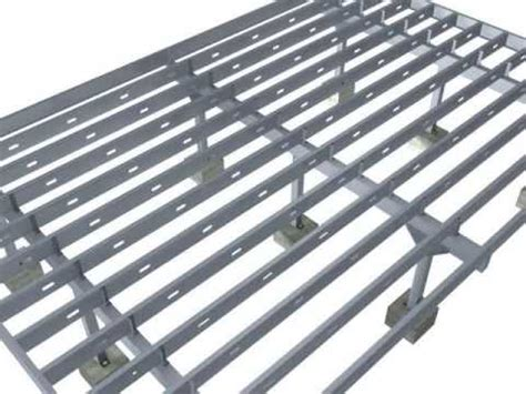 lite metal roof deck steel deck 3d installation