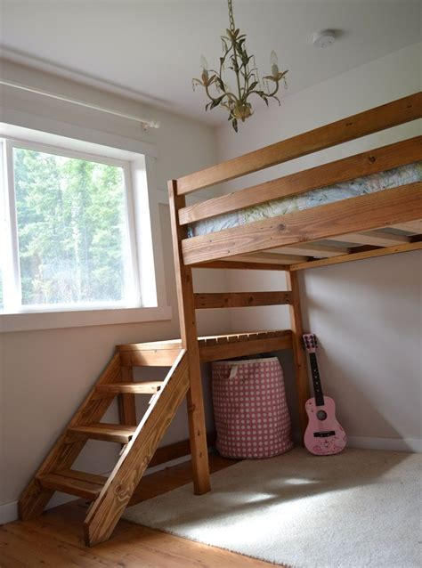 camp loft bed  stair junior height loft bed plans