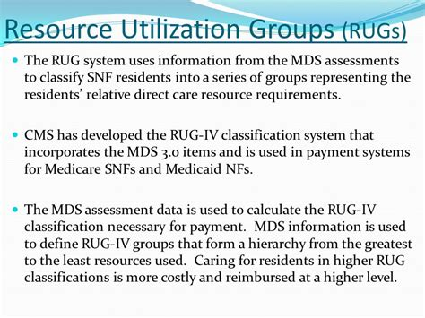 Resource Utilization Groups Rugs by Resident Assessment Instrument Ppt