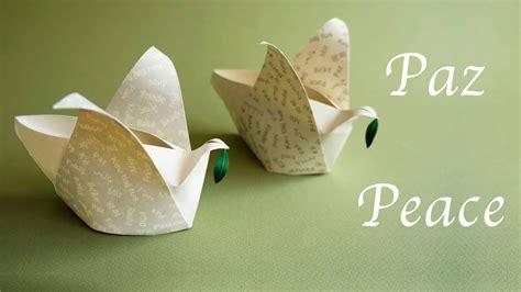 Peace Dove Origami - origami peace dove box cajita de la paz
