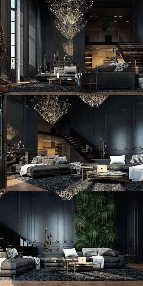 black living rooms ideas inspiration dark interiors