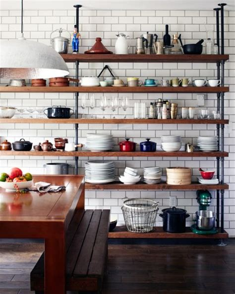 Kitchen Shelf by 65 Ideas Of Using Open Kitchen Wall Shelves Shelterness