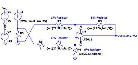 ltspice resistor values solutions ltspice worst circuit analysis with minimal simulations runs