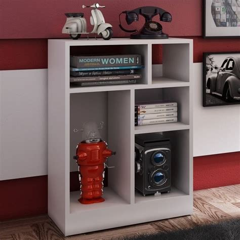 manhattan comfort serra 1 0 white 5 shelf bookcase manhattan comfort valenca 1 0 series 5 shelf bookcase in