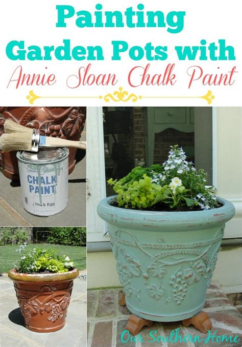 Painting Garden Pots with Annie Sloan Chalk Paint   Our