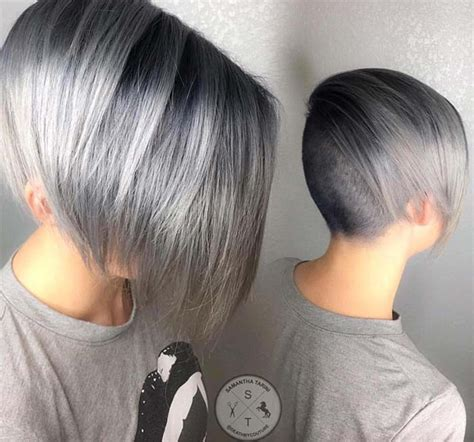 pictures of womens short dark hair with grey streaks 85 silver hair color ideas and tips for dyeing
