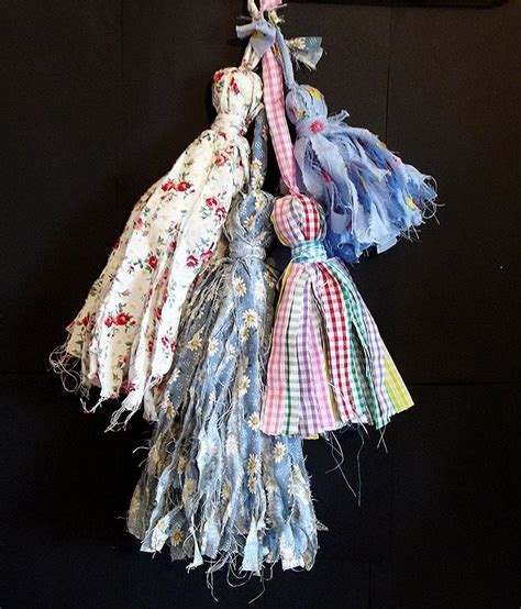 things to make and do make shabby fabric tassels