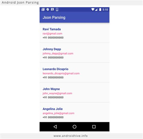 android json parsing tutorial - Android Json Parser