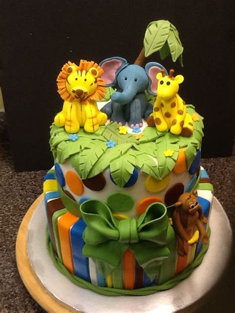 Baby Shower Cakes Safari Theme by Safari Baby Shower Theme Cake Cakes