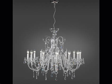 Clear Glass Chandelier Nella Vetrina Italamp 280 12 Swarovski Crystal Chandelier