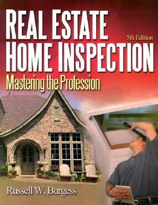 real estate home inspection mastering the profession 5th