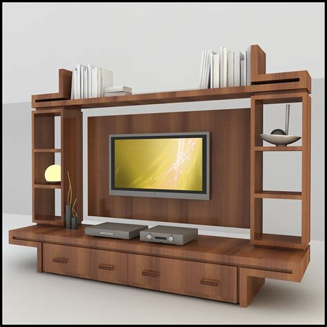 tv wall units tv wall unit modern design x 16 3d models cgtrader