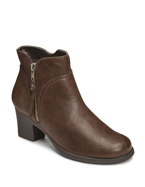 aerosoles boots aerosoles acrobatic boots in brown lyst