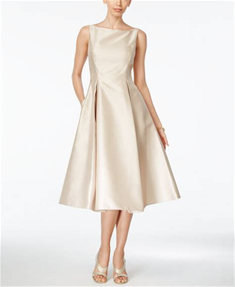 boat neck dress wedding guest adrianna papell boat neck a line dress dresses women
