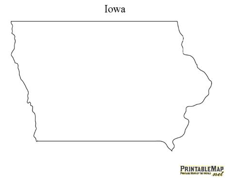 printable map iowa never know when you need an outline of the state crafts