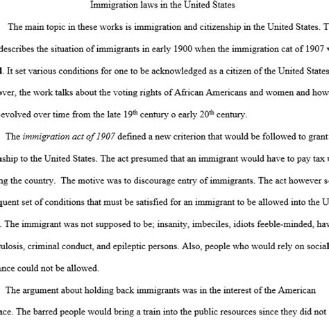 essay on immigrants social work