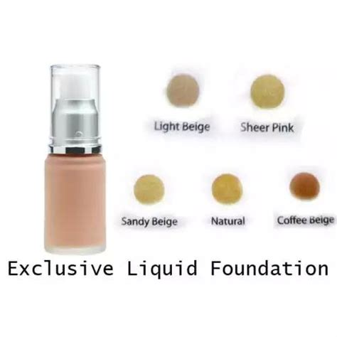 Bedak Wardah Exclusive Foundation Wardah Exclusive Liquid Foundation Elevenia