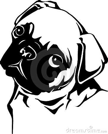 pug clip free pug silhouette clipart clipart suggest