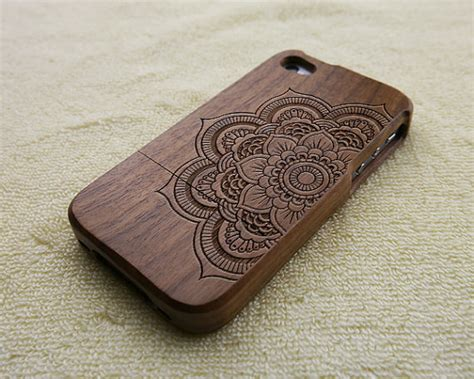 Wood For Iphone 4 4s 5 5s 6 6s 6 mandala engraved iphone 6s plus 6s 6 6 plus 5 5s 5c 4 4s wood samsung s6 s5 s4 s3 note 5