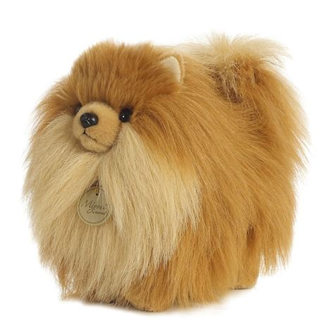 pomeranian stuffed animal realistic stuffed pomeranian 9 inch plush by at stuffed safari