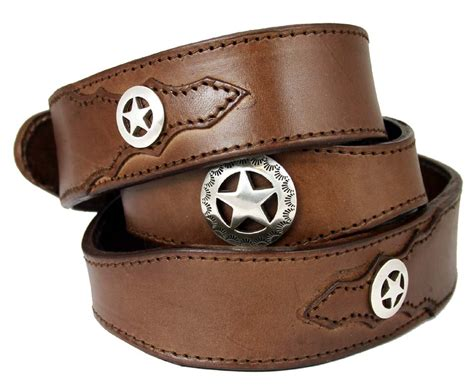 western conchos leather belt 1 1 2 quot wide brown