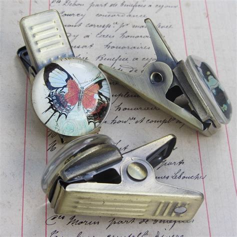 decorative butterfly paper clips by horsfall & wright