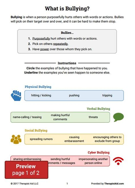 printable bullying quiz cyber bullying worksheets worksheets releaseboard free