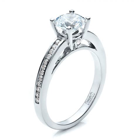 engagement rings for women women s channel set engagement ring 1473